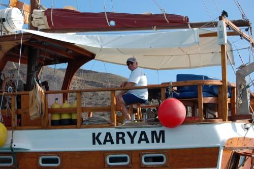 Relajarse en un barco