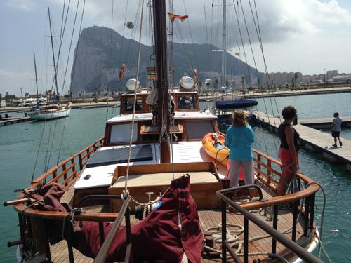 en el estrecho de Gibraltar